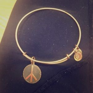 Alex and Ani peace bracelet
